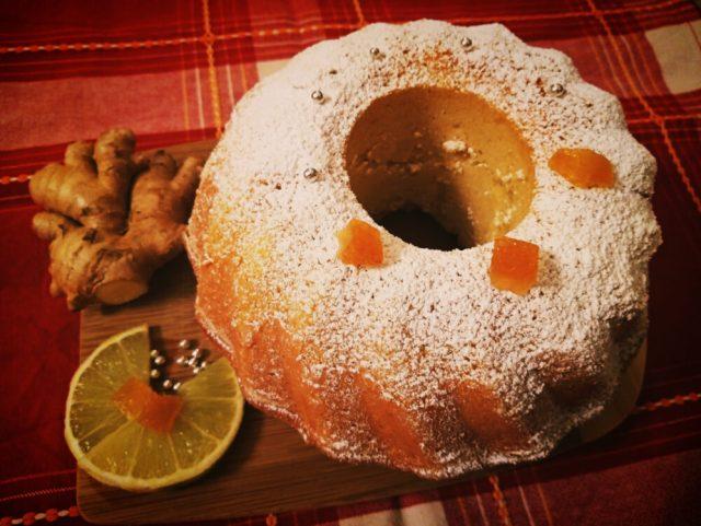 Torta al bergamotto, zenzero e vaniglia