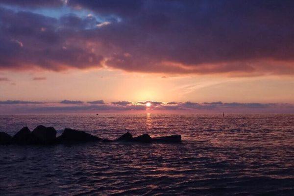 Il tramonto perfetto