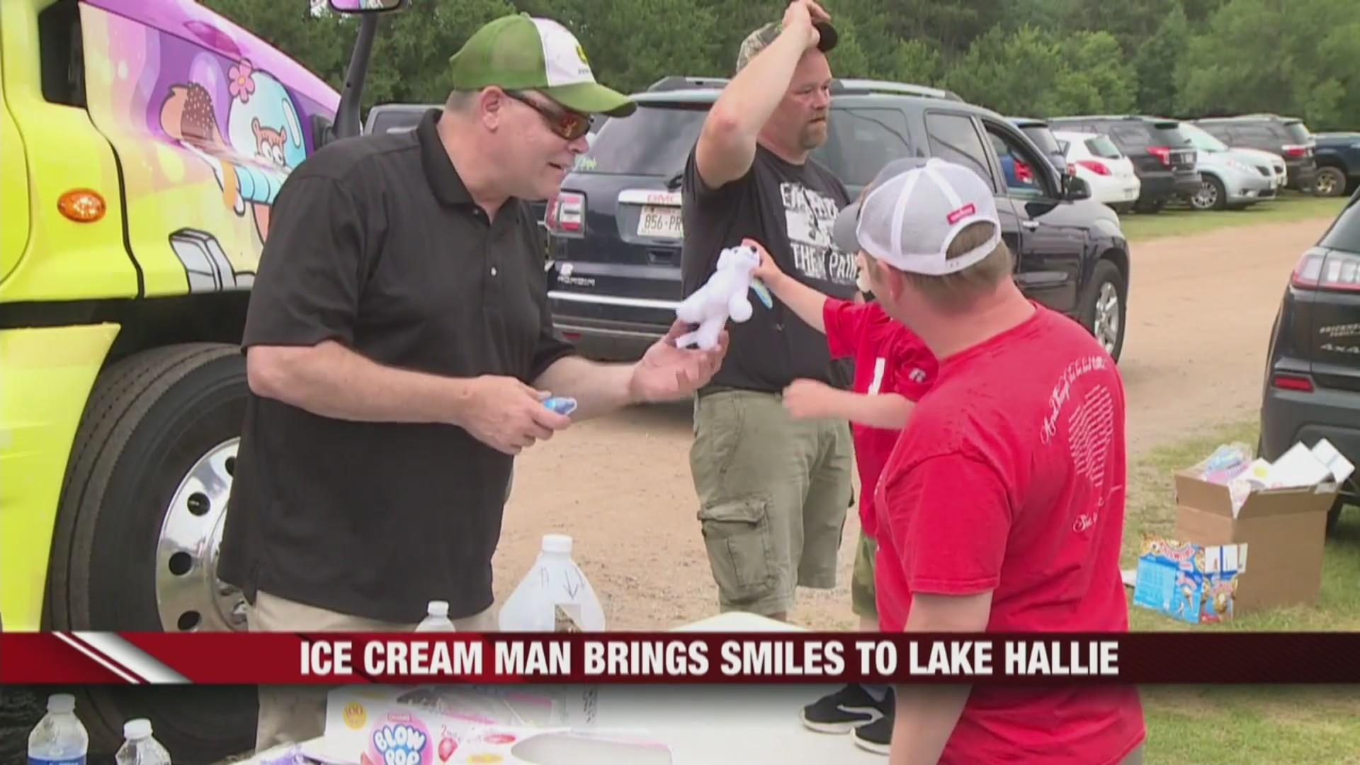 Ice Cream Man in Lake Hallie