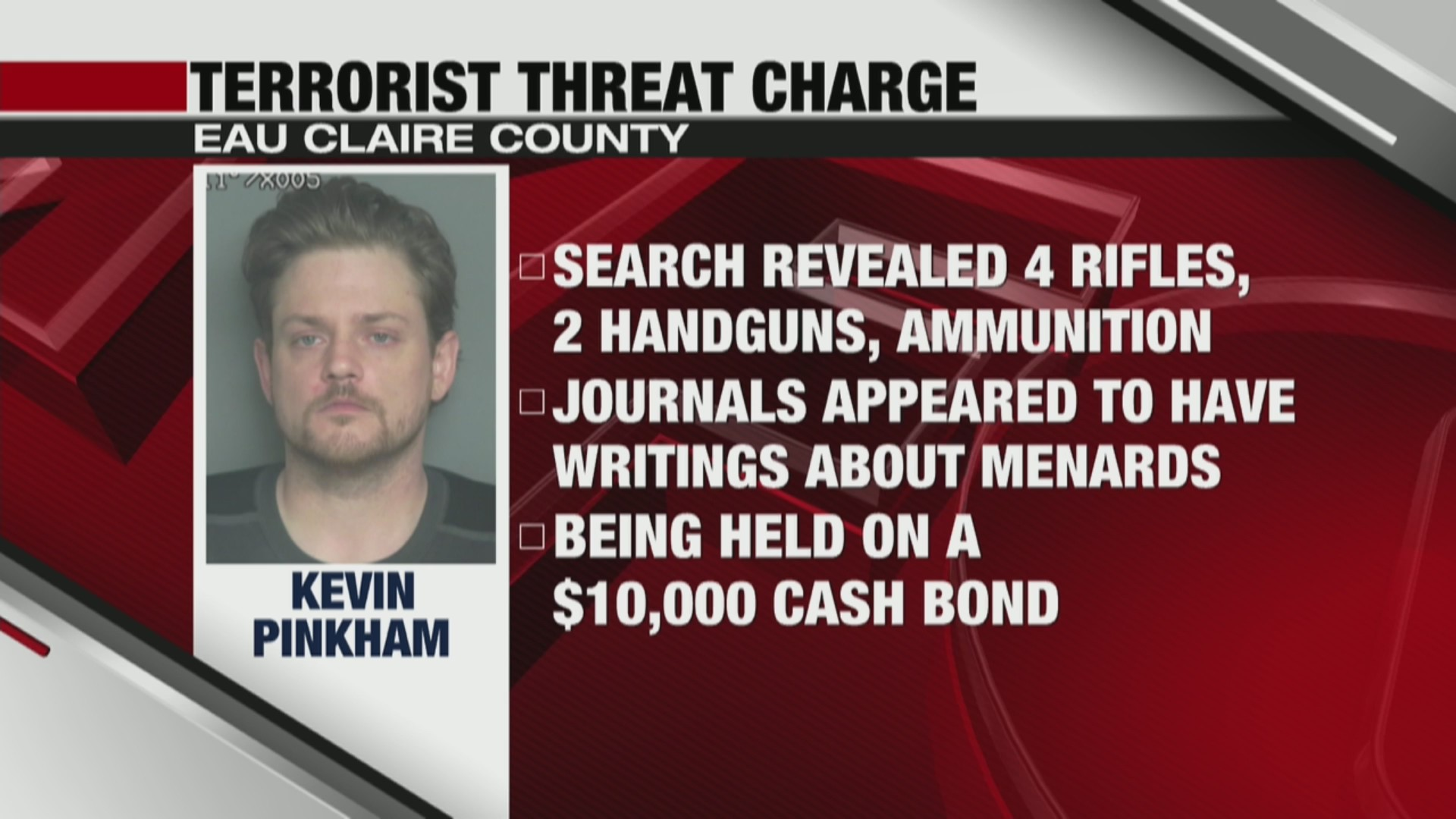 Eau Claire man charged with making terrorist threats against