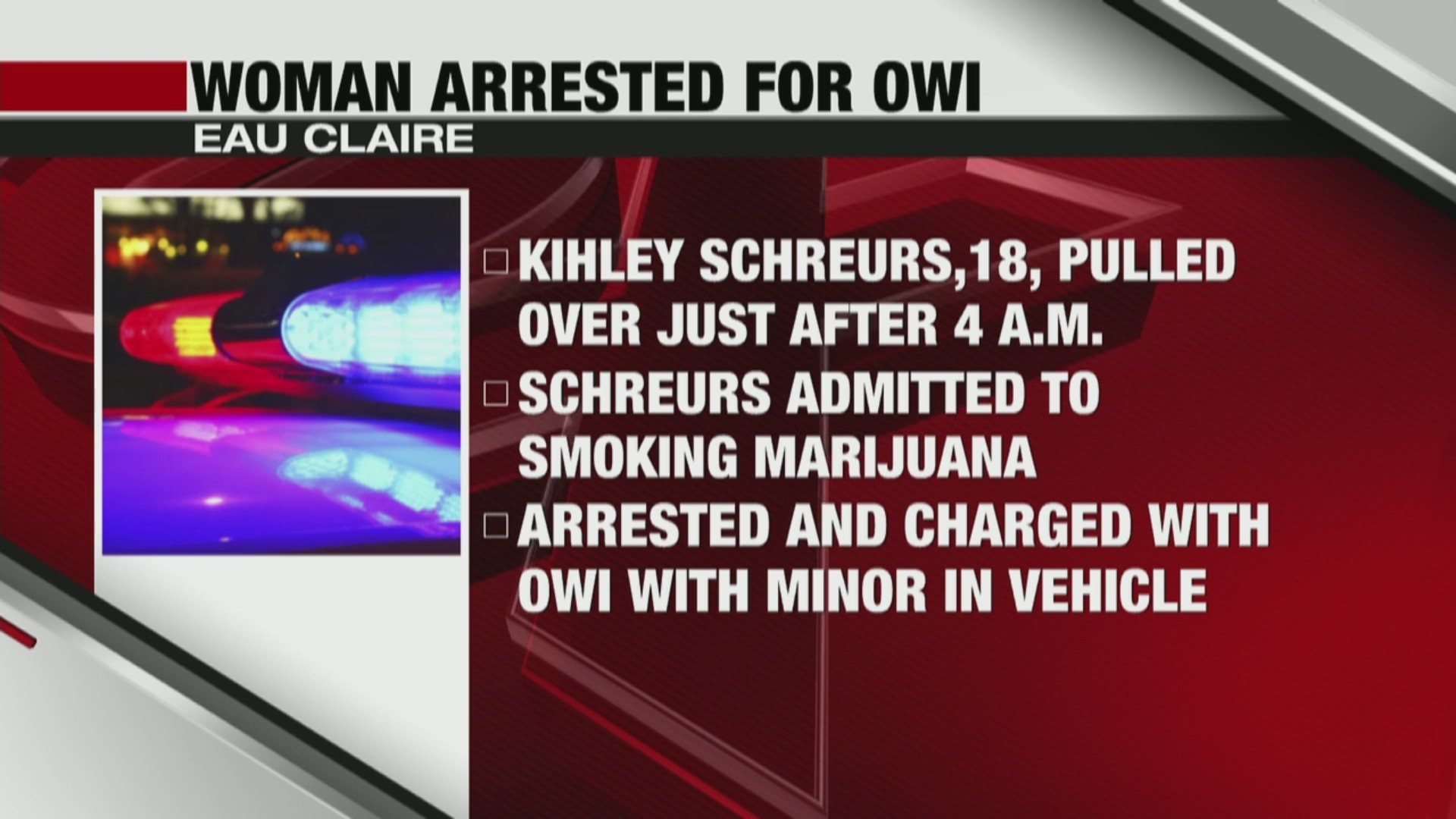 Multiple OWI charges with children in the vehicle