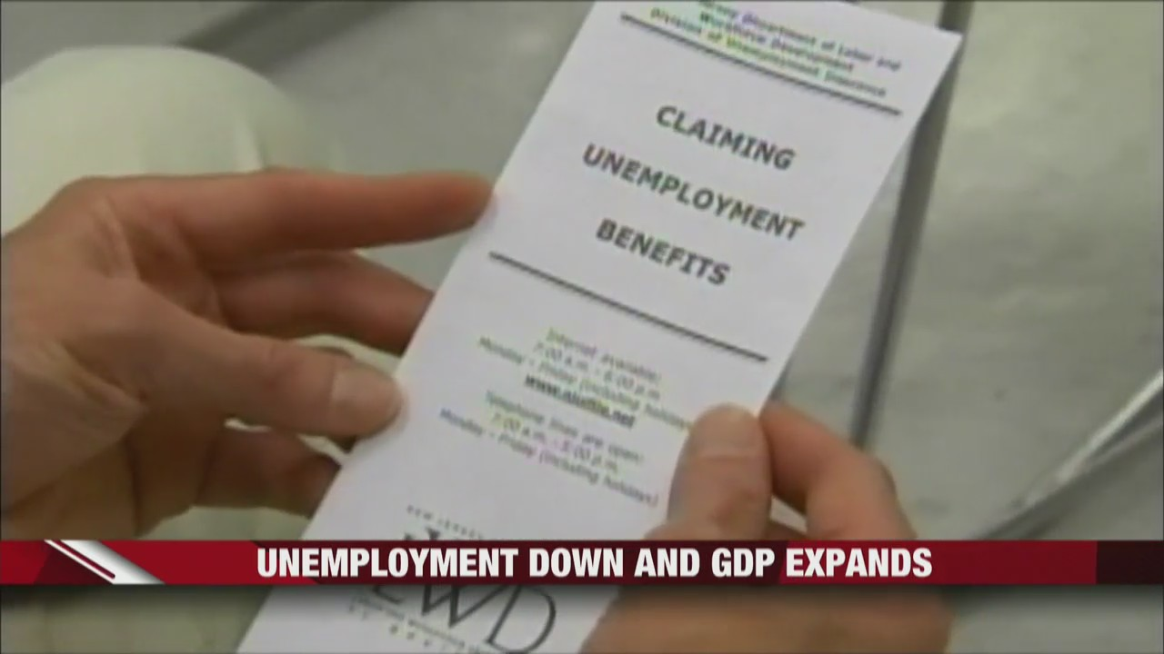 Unemployment down and GDP expands