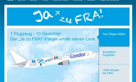 """Flughafen-Lobby-Organisation sucht Fans für den """"Ja zu FRA!""""-Flieger"""