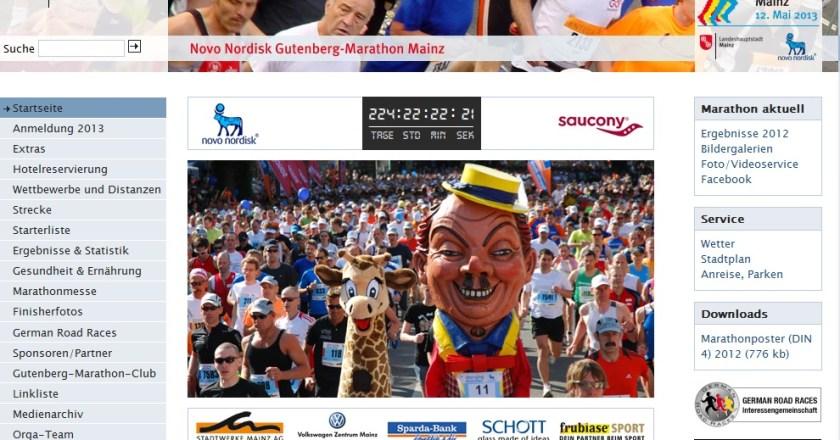 Novo Nordisk Gutenberg-Marathon Mainz Anmeldung ist online