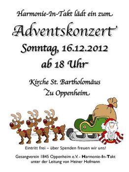 Weihnachtskonzert der Harmonie im Takt am 16. Dezember.