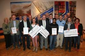 Vertreter der Vereine mit VG-Bürgermeister Ralph Spiegler
