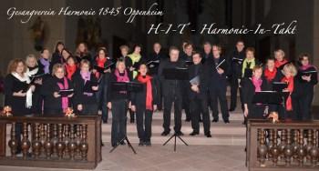 Die Harmonie in takt singt in der Bartholomäus-Kirche zu Oppenheim.