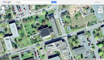 Das Gebäude des Forschungsreaktors auf dem Gelände der Uni Mainz. (Bild: Google Maps)