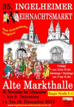 Weihnachtsmarkt in der Alten Markthalle Ingelheim.