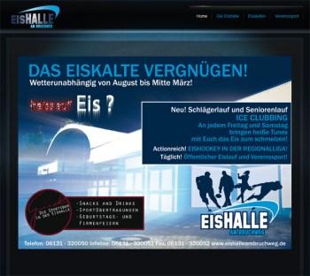 Webseite der Mainzer Eissporthalle.