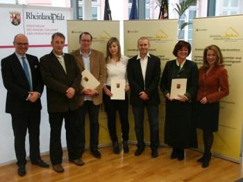 Die Preisträger des Landespräventionspreises 2012.