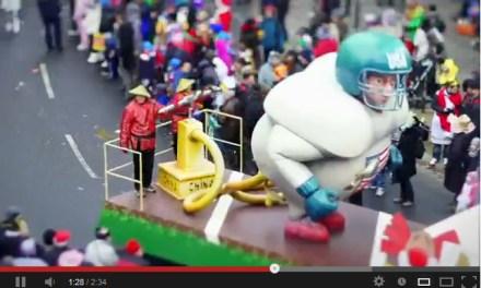 Rosenmontagszug Mainz im Tilt-Shift-Video