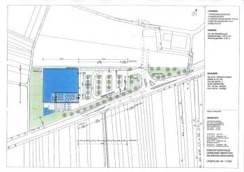 Plan des Fachmarktzentrums in Nierstein.