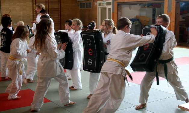 Karate-Sommertraining: Selbstverteidigung auf dem Schulhof