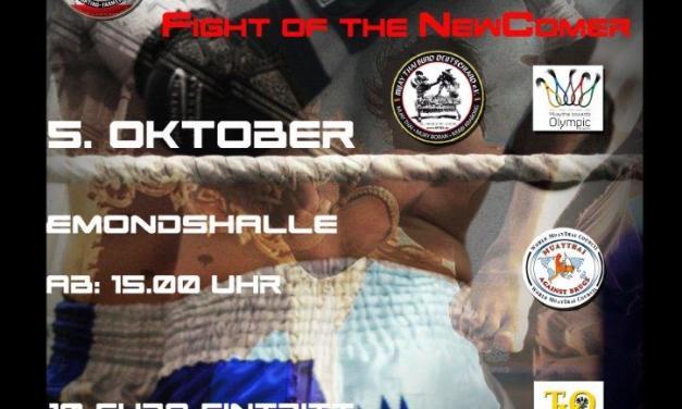 Der Countdouwn zur 3. Muay Thai- Newcomer Gala hat begonnen !