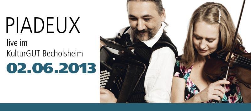 Piadeux – Tango und Crossover im KulturGUT Bechtolsheim am 02.06.2013