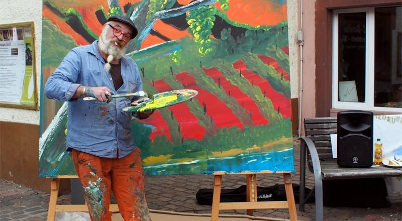 Action Painting auf dem Niersteiner Marktplatz