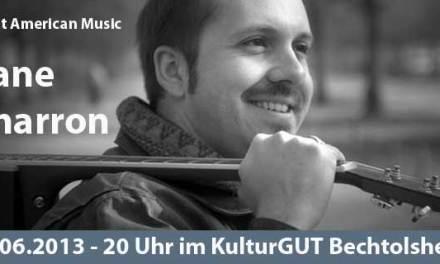 Ausnahme-Gitarrist Zane Charron rockt das KulturGUT Bechtolsheim am 28.06.2013