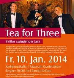 """Tea for Three"" – Zeitlos swingender Jazz mit Andreas Hertel in Guntersblum"