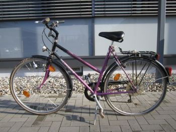 Die Polizei sucht Zeugen zu dem Unfall in Wackernheim. War das Unfall-Opfer mit diesem Damenrad unterwegs gewesen?