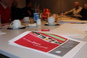 """""""Wir bringen Sport in den Ganztag"""" - unter diesem Motto stand das Treffen des Sportbundes mit den Vereinen. Foto: Vanessa Rehm"""