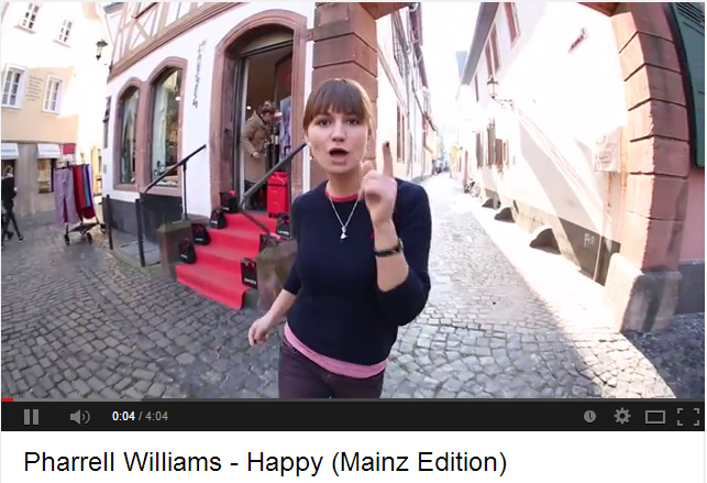Pharrell Williams – Happy (Mainz Edition) – AZ-Video rockt das Netz