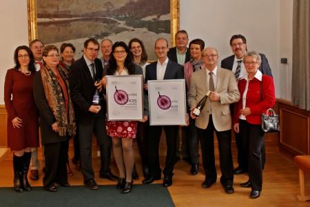 Ortsgemeinde Guntersblum ehrt international prämierte Weingüter