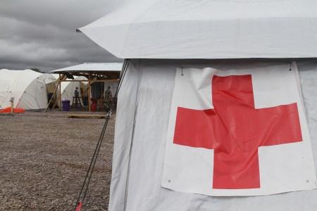 Ebola Behandlungszentrum in Kenema in Sierra Leone
