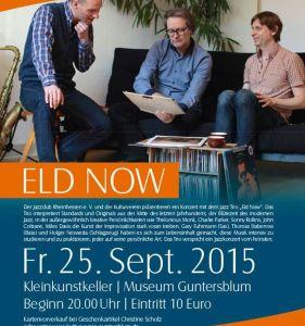 Jazzkonzert mit Eld Now am Freitag, dem 25. September