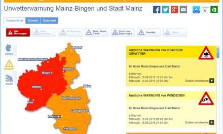 Gewitterwarnung für Rheinhessen – heute kracht's noch