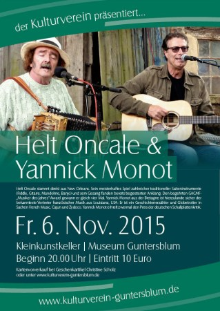 Helt Oncale und Yannick Monot im Museum Guntersblum am 6. November.