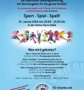 TV Nieder-Olm bietet Sport für die ganze Familie in Nieder-Olm