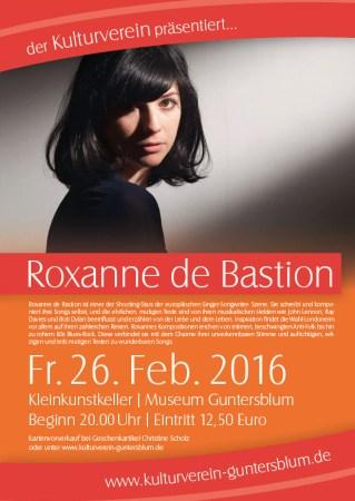 Roxanne de Bastion am 26. Februar in Gunterblum.