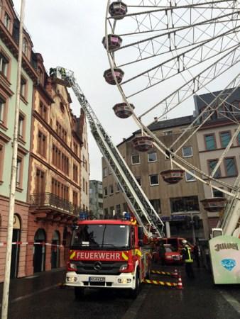 Die Feuerwehr hatte am Rosenmontag nur wenig zu tun. (Bild FW Mainz)