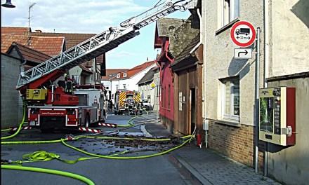 Gebäudebrand in Mommenheim