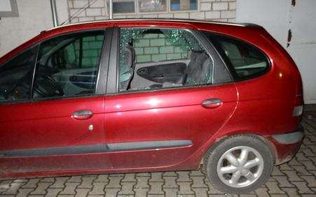 Aus diesem Auto wurde ein Beamer gestohlen