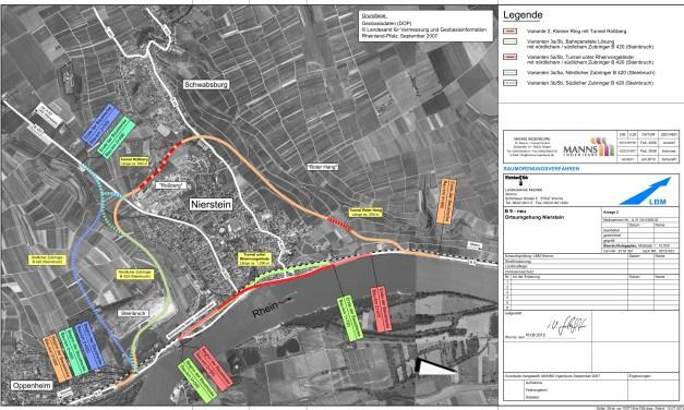 B9 Umgehung Nierstein: Tunnelplanung europaweit ausgeschrieben