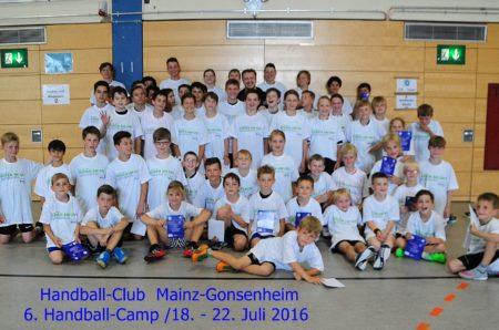 Handball-Camp des Handball-Club Mainz-Gonsenheim vom 03. bis 07. 07. 2017