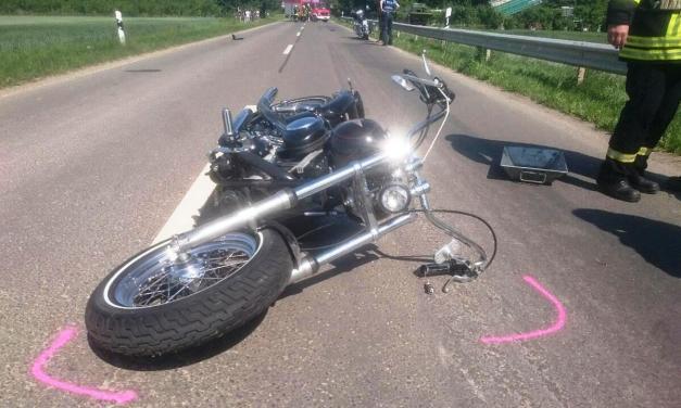 Motorrad- und Radfahrer bei Unfall schwer verletzt