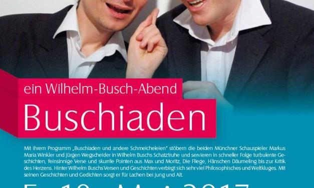 Wilhelm Busch Programm -Szenische Lesung mit Jürgen Wegscheider und Markus Maria Winkler