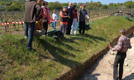 Kulturverein Guntersblum präsentiert zum X. Römertag in Rheinhessen die Ausgrabungsstätte Römerstraße bei Guntersblum