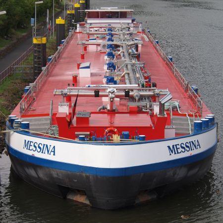 Das ist ein Tankmotorschiff (Symbolbild: Wikipedia)