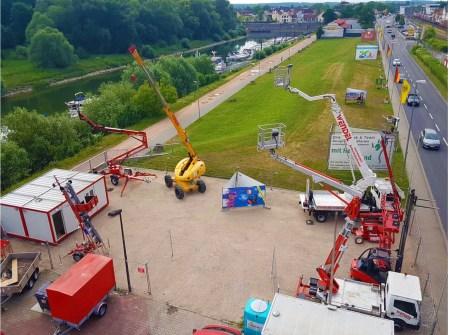 Wendel Arbeitebühnen, Mietstation in Oppenheim. (Foto: Firma Wendel)