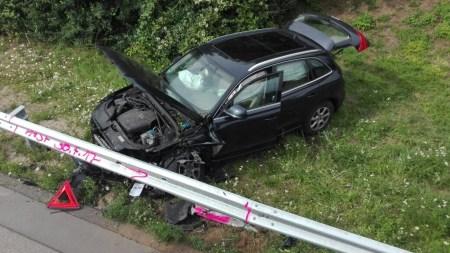 Übersichtsaufnahme der Unfallstelle. (Foto: Autobahnpolizei Wörrstadt)