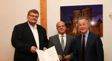 Roland Schäfer, Michael Hartman, ranz Müntefering (Foto: Roland Schäfer SPD Ingelheim)