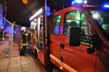 LKW brennt am Ortseingang von Nierstein