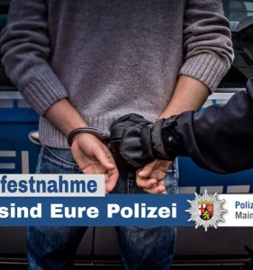 In Gau-Algesheim wird einer von zwei Tätern nach einem Einbruch festgenommen