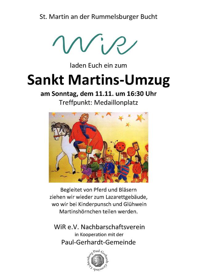 WiR – Wohnen in der Rummelsburger Bucht Nachbarschaftsverein – Sankt-Martins-Umzug am 11.11.2018
