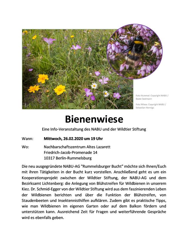 WiR – Wohnen in der Rummelsburger Bucht Nachbarschaftsverein – Bienenwiese