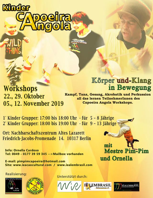 WiR – Wohnen in der Rummelsburger Bucht Nachbarschaftsverein – Kinder-Workshop Capoeira-Angola
